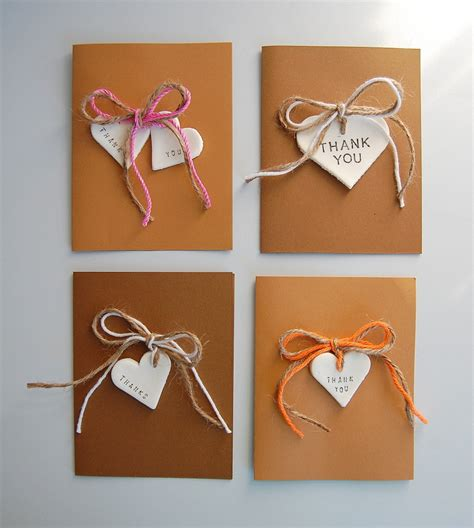 Diy Handmade Cards - rustic diy thank you cards northstory