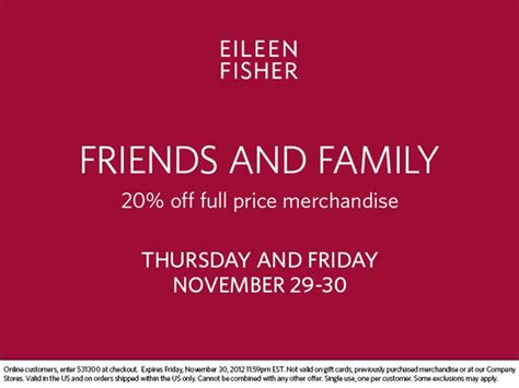 Friends And Family Discount At Prescriptives by Eileen Fisher Friends Family Discount Momtrends