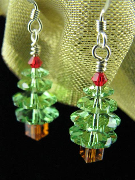 christmas earrings christmas jewelry christmas tree