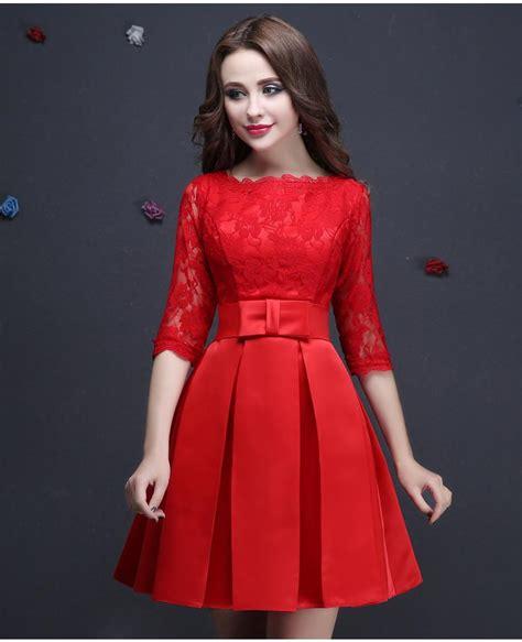 Pretty Dress Semi Formal Anak 1selina vestido de festa lace half sleeved evening dresses bridal banquet plus size