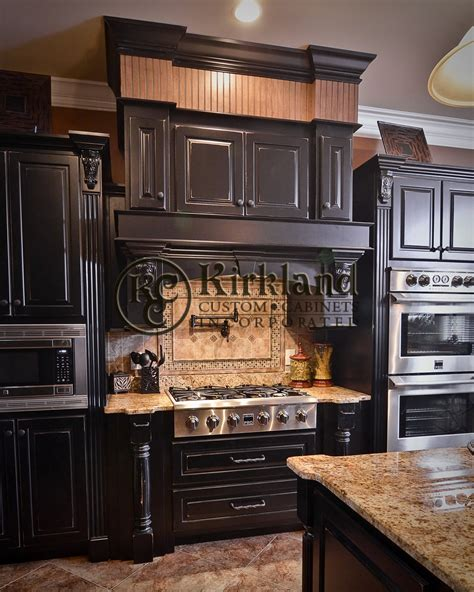 black wood kitchen cabinets kitchens kirkland custom cabinets inc