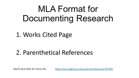 works cited page mla citation style 8th edition libguides at