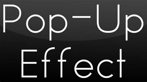 Tutorial After Effect Pop Up | after effects guy pop up effect tutorial youtube