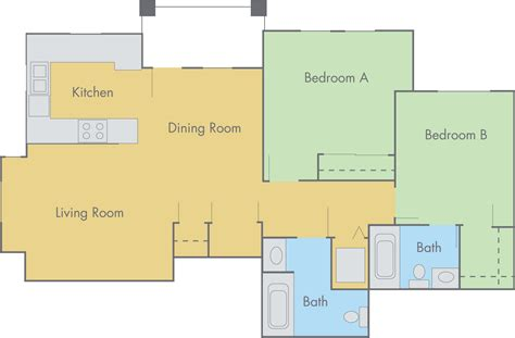 floor plan of 2 bedroom flat the lexington floor plan 2 bedroom 2 bathroom flat