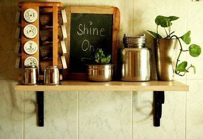 Ethnic Kitchen Decor by Could Put A Rod Or Dowel Through Brackets To Use As A