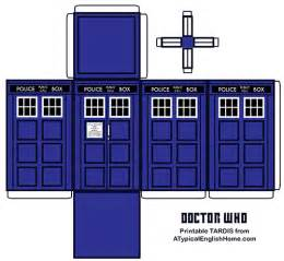 Tardis Template by A Typical Home Doctor Who Printable Tardis And
