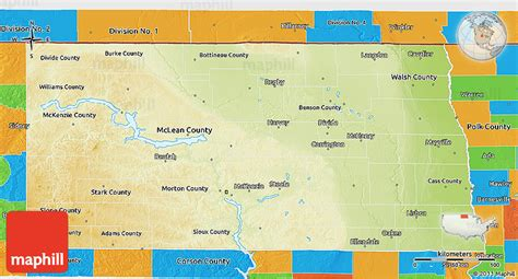 political map of dakota physical 3d map of dakota political outside