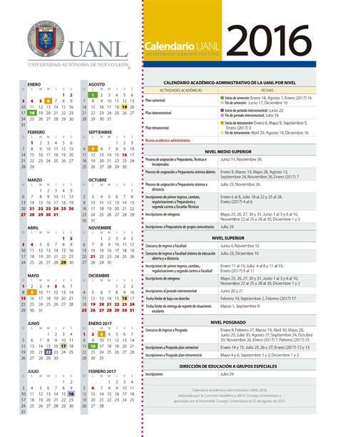 Calendario Escolar Uanl 2015 Facultad De Artes Esc 233 Nicas Calendario 2016 Uanl