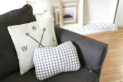 New Sew Pillow Cover by No Sew Pillow Cover From An Shirt The Craft
