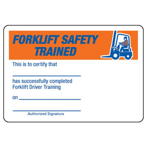 forklift certification card template certification photo wallet cards forklift safety driver