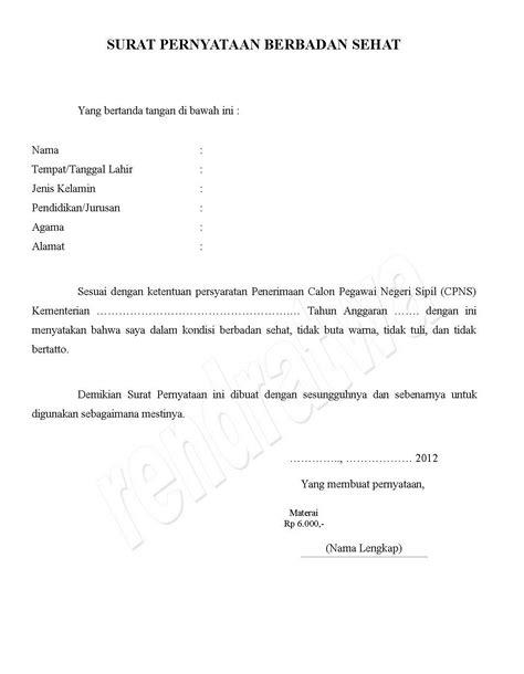 Contoh Surat Pernyataan Alamat - Gambar Con