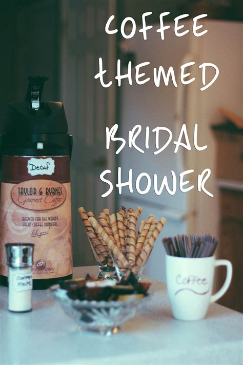 themed bridal shower coffee themed bridal shower coffee with summer