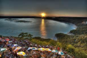 The Oasis On Lake Travis Tx Hillcountry Sunset On Lake Travis From The Top Tier Of The