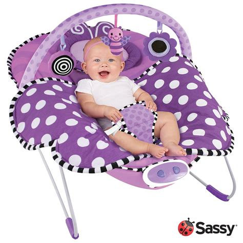 Bouncer Butterfly sassy cuddle bug bouncer violet butterfly