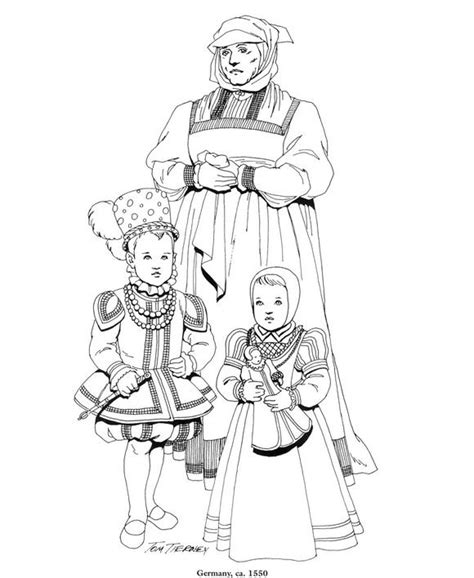 renaissance dress coloring page 82 best coloriage histoire images on pinterest