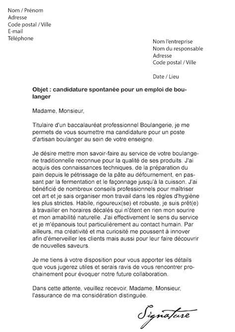 Lettre De Motivation Vendeuse En Boulangerie Patisserie Lettre De Motivation Boulanger Mod 232 Le De Lettre