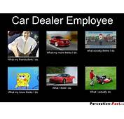 Car Dealer Employee  What People Think I Do