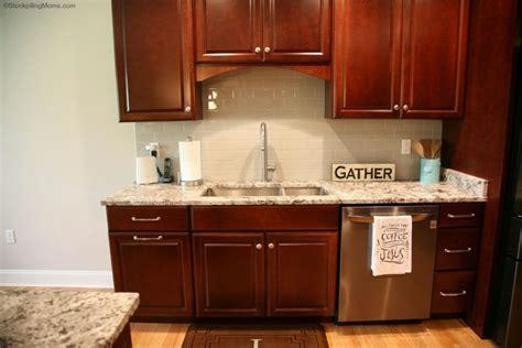 Kitchen Design ? Dark Cherry Cabinets and Black Stainless