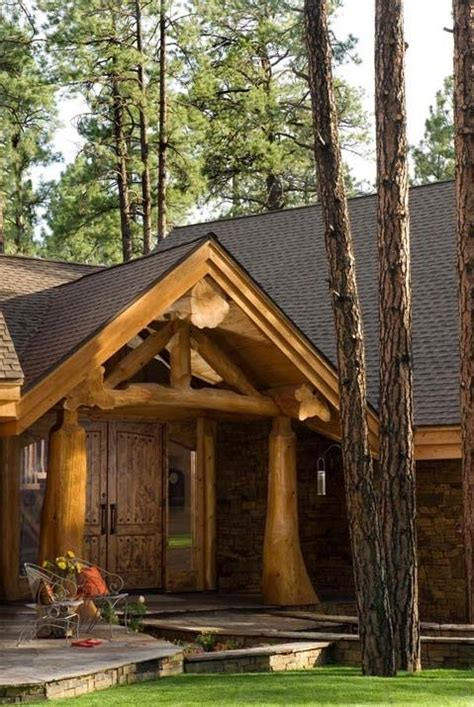 Summit Handcrafted Log Homes - house entrances photos
