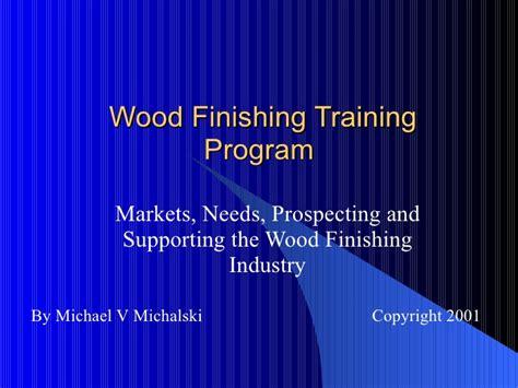 woodworking certificate programs wood finishing program