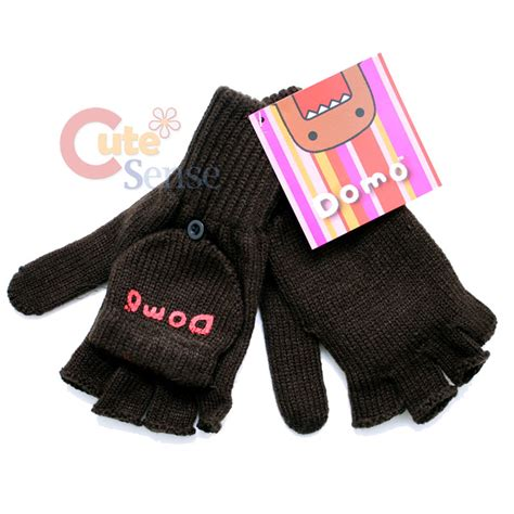 knitting patterns for fingerless gloves with mitten cover domo kun knitted fingerless glove with mitten top cover