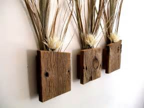 Pocket Wall Sconces Set Of 3 Rustic Reclaimed Barn Wood Wall By