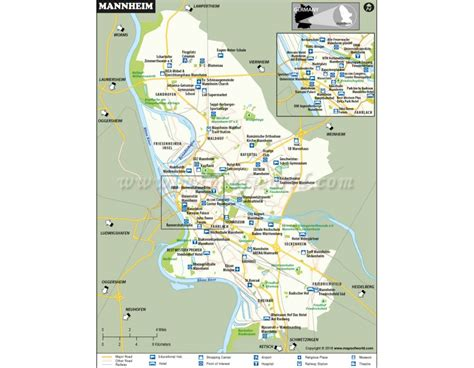 manheim germany map buy mannheim city map