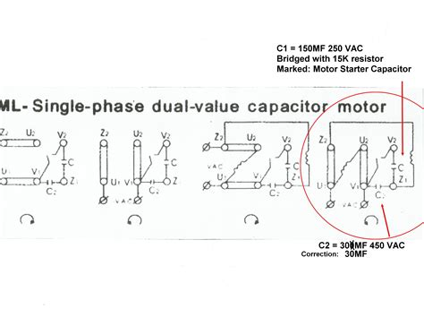ac motor start capacitor wiring diagram thqmotor run