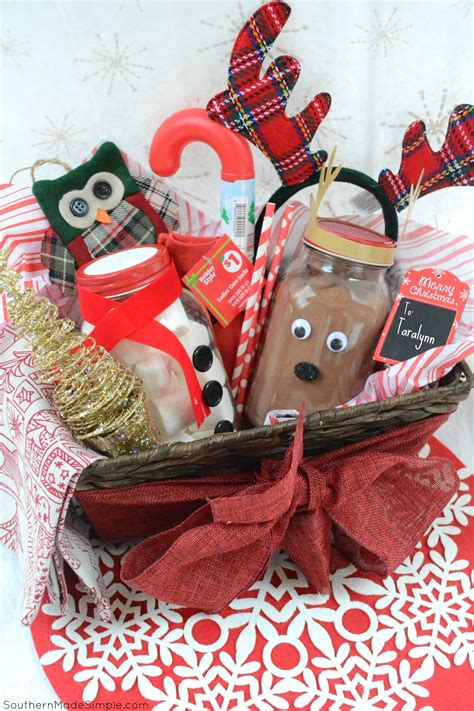 what to put in a christmas basket easy gift idea diy cocoa gift basket southern made simple