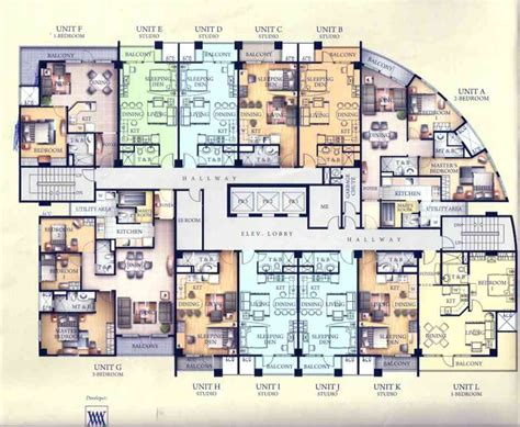 individual floor plans of luxury condo units blu condos 1 bedroom unit at venice luxury residences mckinley hill