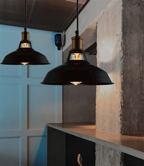 industrial retro vintage black pendant l kitchen bar