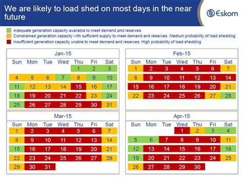 Load Shedding Schedule by Eskom Load Shedding This Weekend