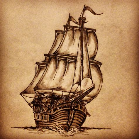 sketch of sailboat pictures to pin on pinterest tattooskid
