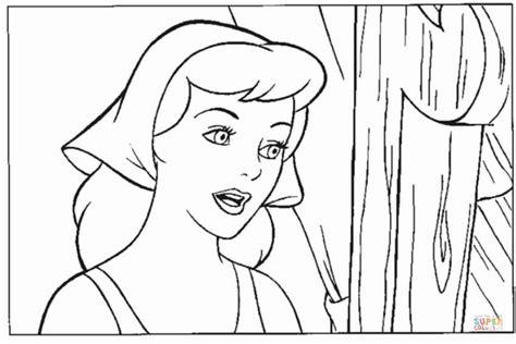 cinderella face coloring pages cinderella have a pretty face coloring online