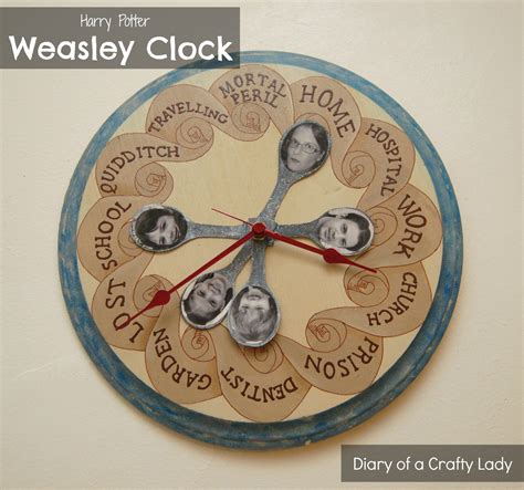 diary of a crafty harry potter weasley family clock