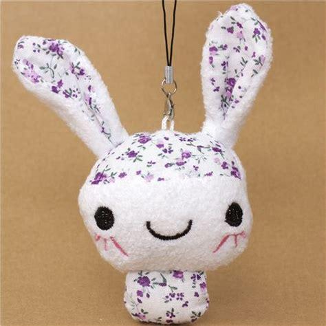 Kopenhagen Mini Bunny Bagcharm Import 1 rabbit plush cellphone charm with flower pattern cellphone accessories accessories