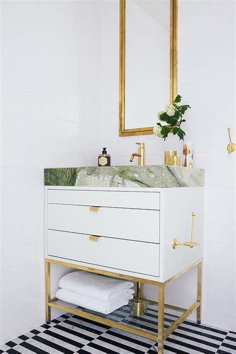 white and gold bathroom white and gold bathroom with black and white striped
