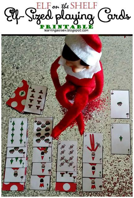 printable elf on the shelf cards the elf on the shelf elf sized playing cards printables