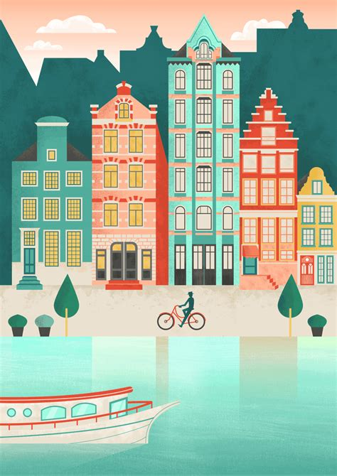 flat design effect photoshop how to create an amsterdam cityscape in adobe illustrator