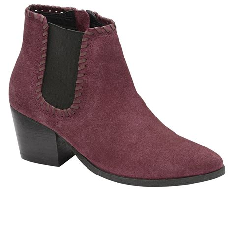 burgundy suede boots buy ravel lanett ankle boots in burgundy suede