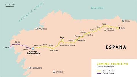 camino de santiago frances mapa camino primitivo camino de santiago mapas