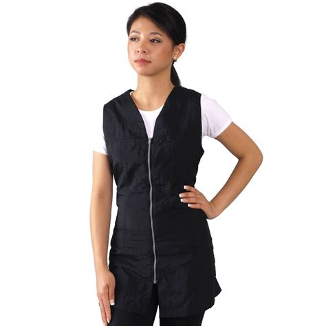zippered hair cutting smock in can amazon com sleeveless black salon smock x small size 0