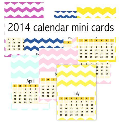 printable calendar cards free printable 2014 chevron calendar cards ausdruckbarer