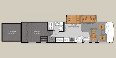 thor hauler floor plans specs for 2012 thor motor coach outlaw 3611 rvs rvusa