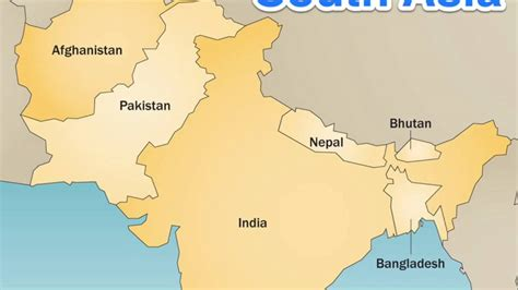south asia countries map south asia countries capitals