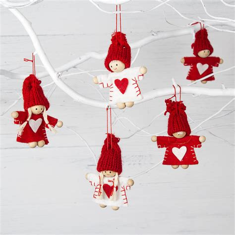 Mini Decorations - and white mini tree decorations by the