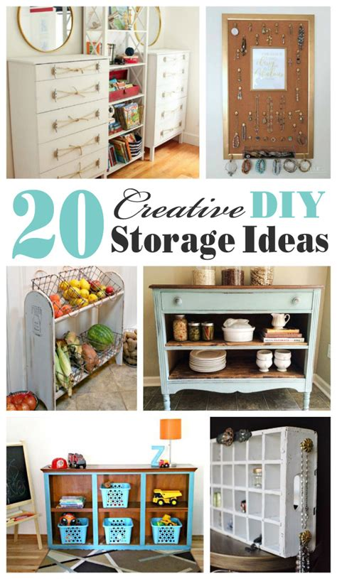 Handmade Storage Ideas - 20 creative diy storage ideas mostly repurposed or