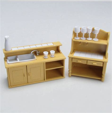Pretend Kitchen Furniture | 1 12 miniature home furniture mini toy kitchen room set