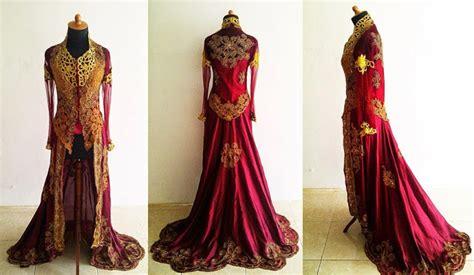 Mimpi Memakai Baju Kebaya Merah inspirasi kebaya warna merah maroon yang mewah gebeet