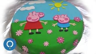 cake decorating ideas without fondant peppa pig birthday cake decorating with fondant
